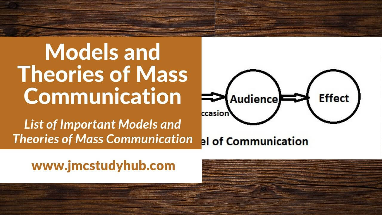 Models and Theories of Mass Communication- Quick revision notes