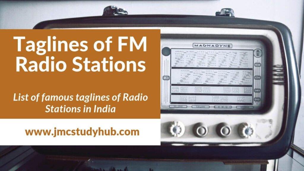 taglines of FM radio stations