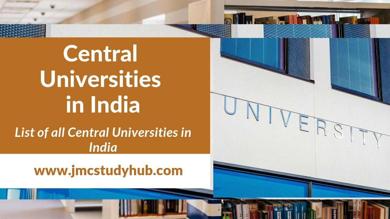 List of Central Universities in India