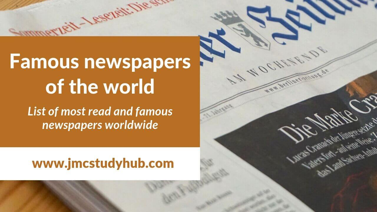 List of famous newspapers in the world