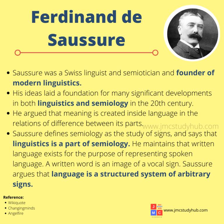 Ferdinand Saussure