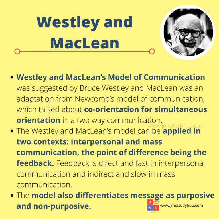 Westley and MacLean