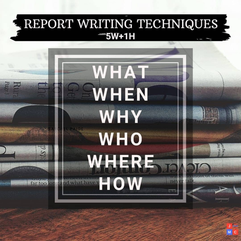 Report writing techniques- jmc