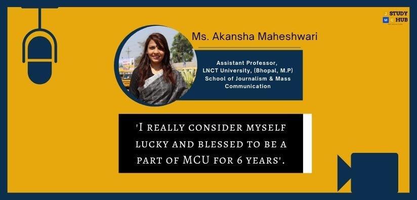 Interview- Ms. Akansha Maheshwari