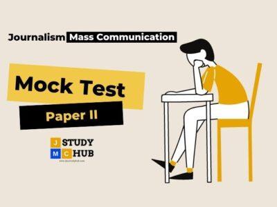 Solved Paper (2004- 2020) : UGC NET/JRF Mass Communication & Journalism