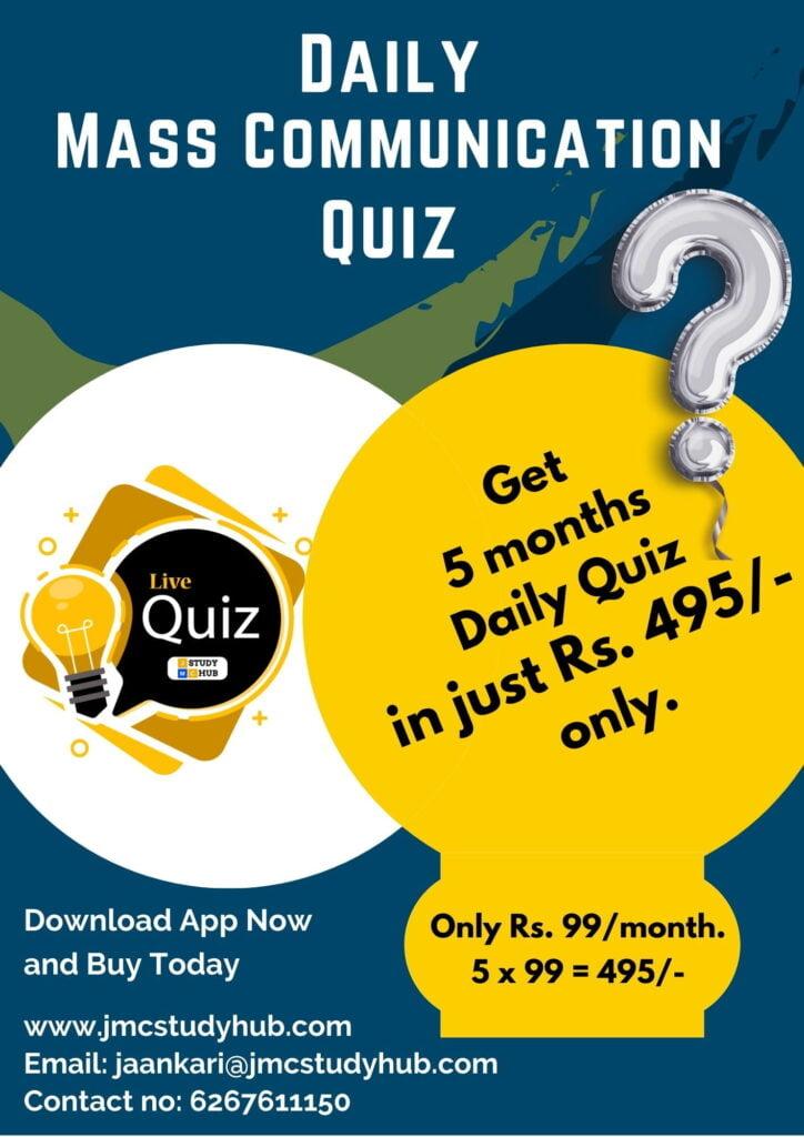 Daily Mass Communication Quiz Flyer