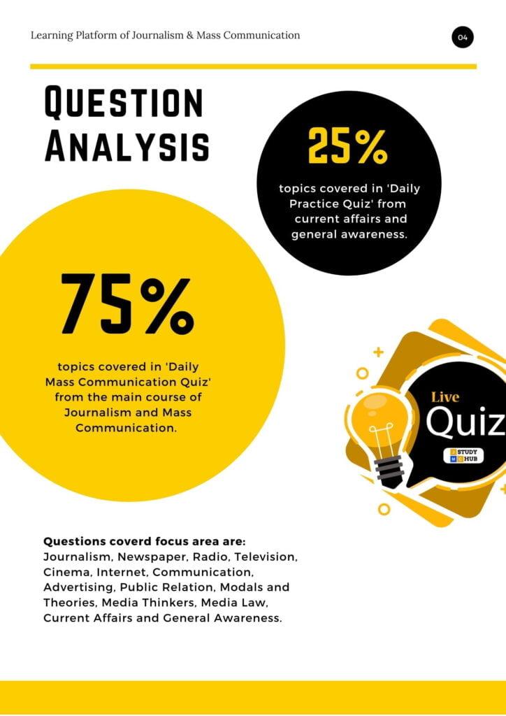 Question Analysis- Mass Communication Quiz